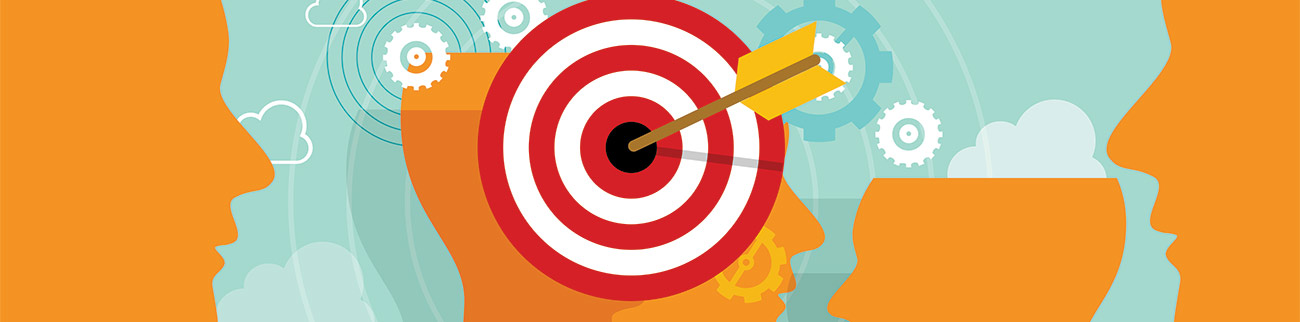 Arrow in Center of Target Surrounded By Faces - Digital Marketing Group Behavioral Marketing Blog