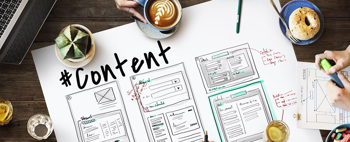 SEO Content Plan Layout on Table - SEO Content Blog