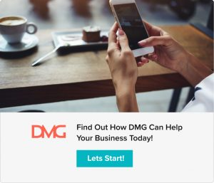 """Digital Marketing CTA reading """"Find out how DMG can help your business today!"""" with """"Lets Start"""" button"""